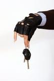 Female hand holding a car keys Royalty Free Stock Photo