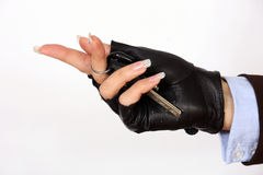 Female hand holding a car keys Stock Photography