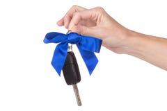 Female hand holding car keys Stock Photography