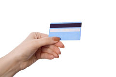 Female hand holding credit card Royalty Free Stock Photo