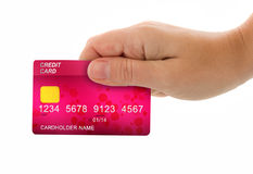 Hand holding credit card for payment royalty free stock photos