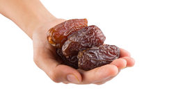 Female Hand Holding Date Fruits XI Royalty Free Stock Photos