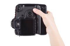 Female hand holding Digital camera Royalty Free Stock Photo