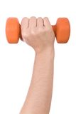 Female hand holding a dumbbell Stock Image