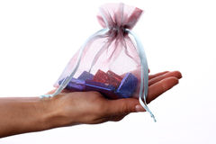 Female hand holding gift Stock Photography