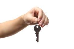 Female hand holding a key Stock Image