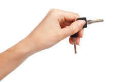 Female hand holding keys Royalty Free Stock Image