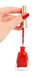 Female hand holding nail brush Royalty Free Stock Image