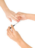 Female hand holding a nail file Royalty Free Stock Photography