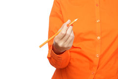 Female hand holding a pencil Stock Photography