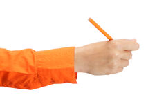 Female hand holding a pencil Royalty Free Stock Photography