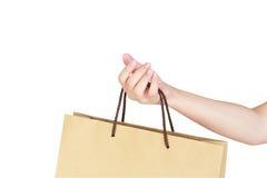 Female hand holding shopping bag Royalty Free Stock Photos