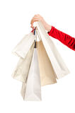 Female hand holding shopping bags. Stock Photography