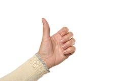 Female Hand holding Stock Image