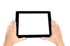 Female hand holding a tablet Stock Photography