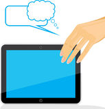Female hand holding tablet pc Stock Photography