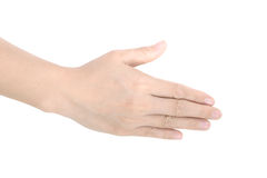 Female hand isolated on white Stock Photo