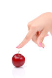 The female hand and juicy plums Royalty Free Stock Image