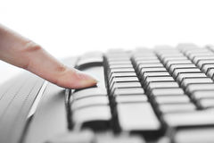 Female hand and  keyboard Stock Image