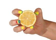 Female hand with lemon Stock Image
