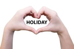 Female hand love holiday Royalty Free Stock Image