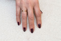 Female hand with a manicure close up Royalty Free Stock Photography