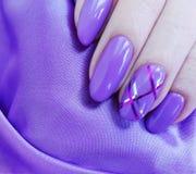 Female hand manicure, silk. Style elegance royalty free stock image