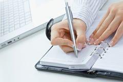 female hand notes writing стоковые изображения rf
