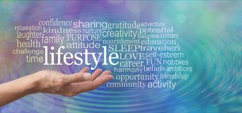 Elements of Lifestyle word tag cloud royalty free stock image