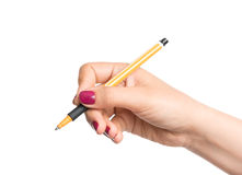 Female hand with pencil Stock Photography