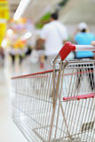 Shopping trolley in motion Royalty Free Stock Photo