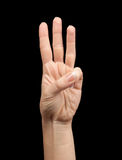 Female hand showing number two Royalty Free Stock Photography