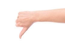 Thumb down hand Royalty Free Stock Image
