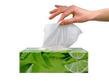 Free Female Hand Taking A Tissue From A Box Royalty Free Stock Photography - 1565227
