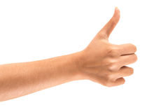 Female hand with thumbs up Royalty Free Stock Images