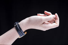 Female Hand Watch Royalty Free Stock Image