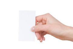 Female Hand With Business Card Royalty Free Stock Photography