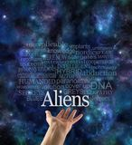 Are you Alien Aware Word Cloud stock illustration