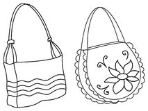 Female handbags, contours Stock Image