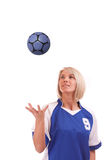 Female handball player Royalty Free Stock Photography