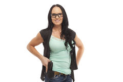 Female with handgun Stock Photos