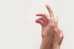 Female hands Stock Images
