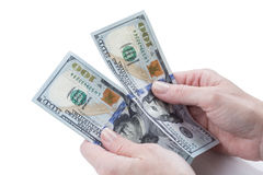 Female hands Counting Money Royalty Free Stock Photos