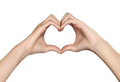 Female hands in the form of heart Royalty Free Stock Photo