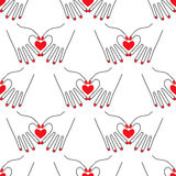 Female hands in the form of heart on white background. Royalty Free Stock Image