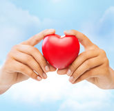 Female hands with heart Royalty Free Stock Photos