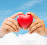Female hands with heart Royalty Free Stock Images