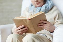 Female hands holding book royalty free stock photography