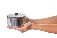 Female Hands Holding Food Container VII Stock Photo