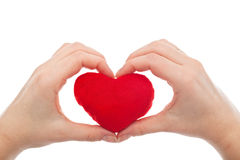 Female hands holding heart Stock Photography